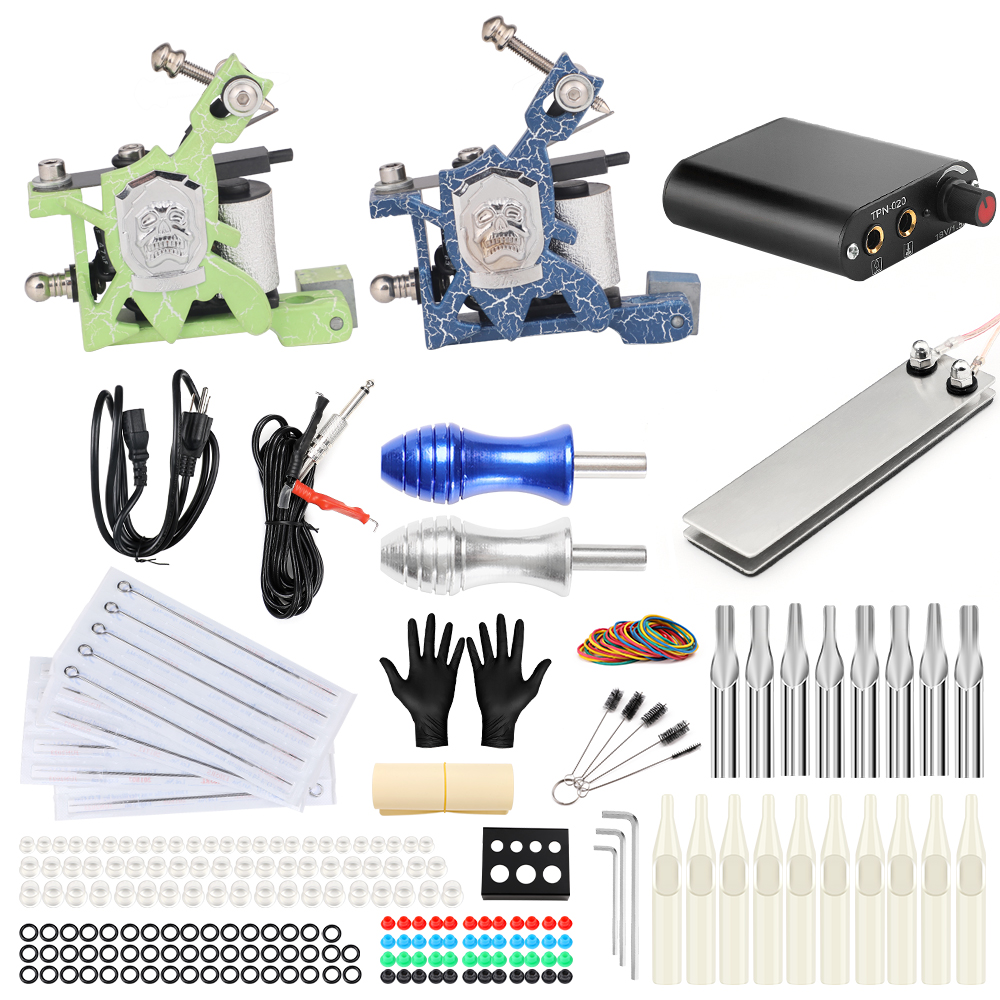 Solong Tattoo Machine Set Two Coil Machine For Liner and Shader Power Supply Foot Pedal Grip Needles Tattoo Body&Art TK201-14 полотенце махровое 70х140 см tac полотенце махровое 70х140 см