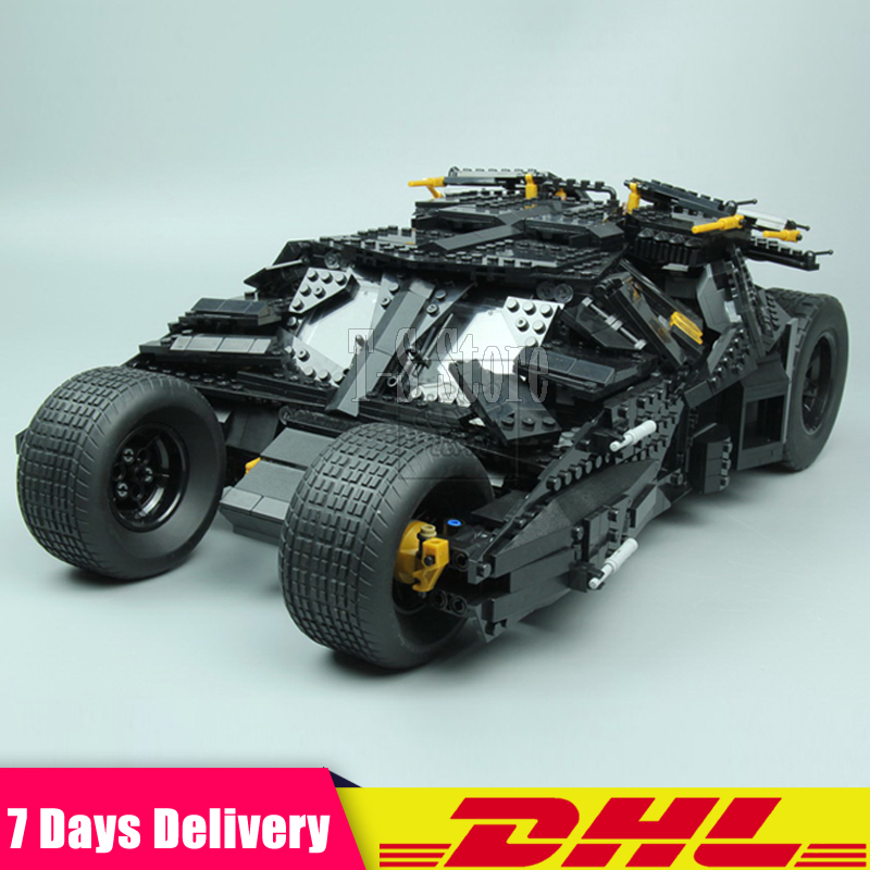 DHL IN Stock LEPIN 07060 Super Hero Movie 1969Pcs The Batman Armored Chariot Building Blocks Bricks Set DIY Toys Fit for 76023 lepin 07060 super series heroes movie the batman armored chariot set diy model batmobile building blocks bricks children toys