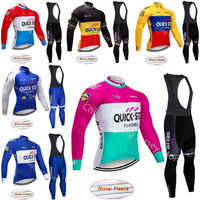 Quick step 2019 Winter Thermal Fleece Long Sleeve Cycling Jersey Clothing Mountain Road Outdoor Bike Clothing Ropa Ciclismo A08