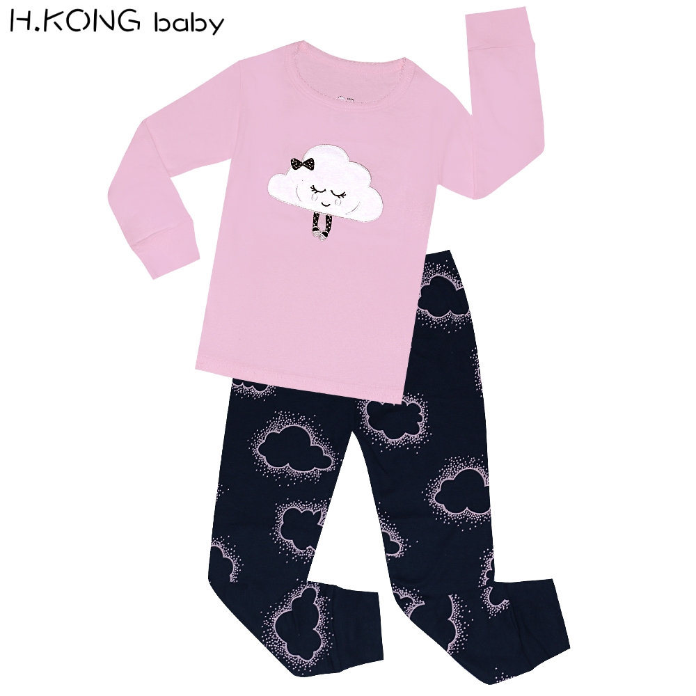 ca2c15a57 Aliexpress.com   Buy Girls Cat Doll Pajamas Sets Children Clothes ...