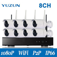 Plug And Play 8CH 1080P HD Wireless NVR Kit P2P Indoor Outdoor IR Night Vision Security