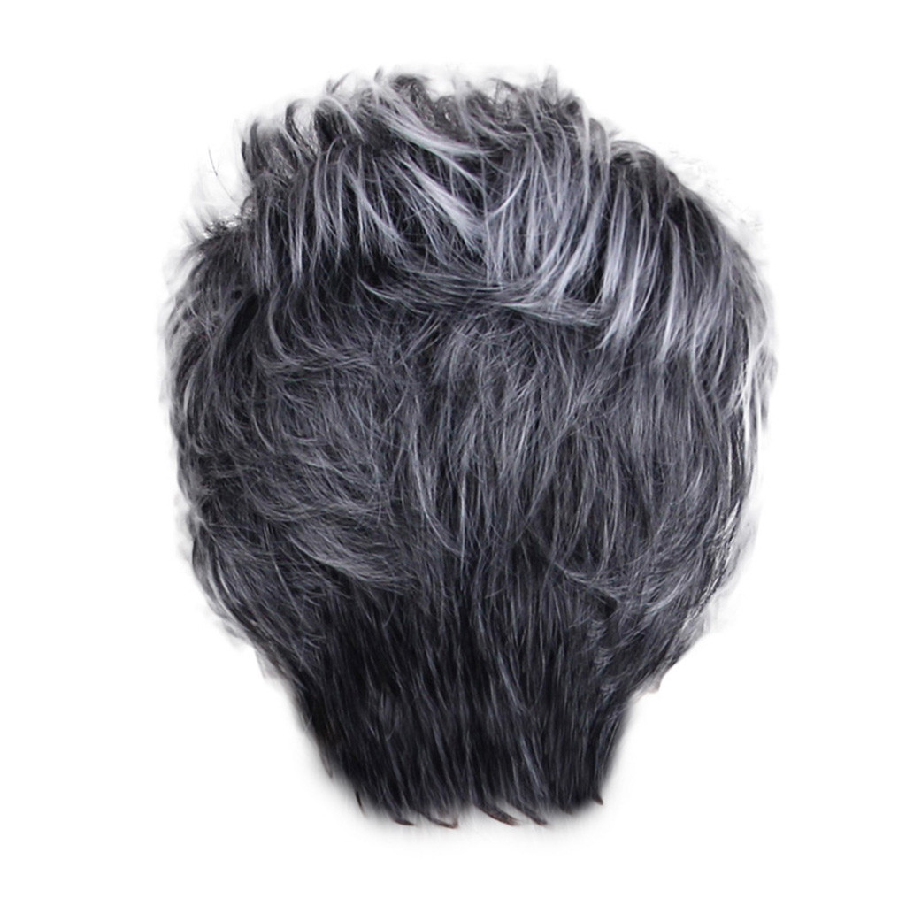 Women Lady Fashion Sexy Black Women Short Styling Cool Wig High Temperature Wire No Lcae Peluca Perruque Gift Dropshipping
