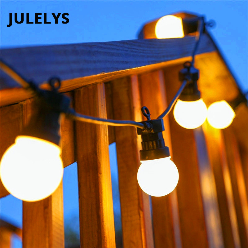 JULELYS LED Bulbs String Lights Retro Garland Outdoor Christmas Decorations For Garden Holiday Party Birthday Wedding Lights