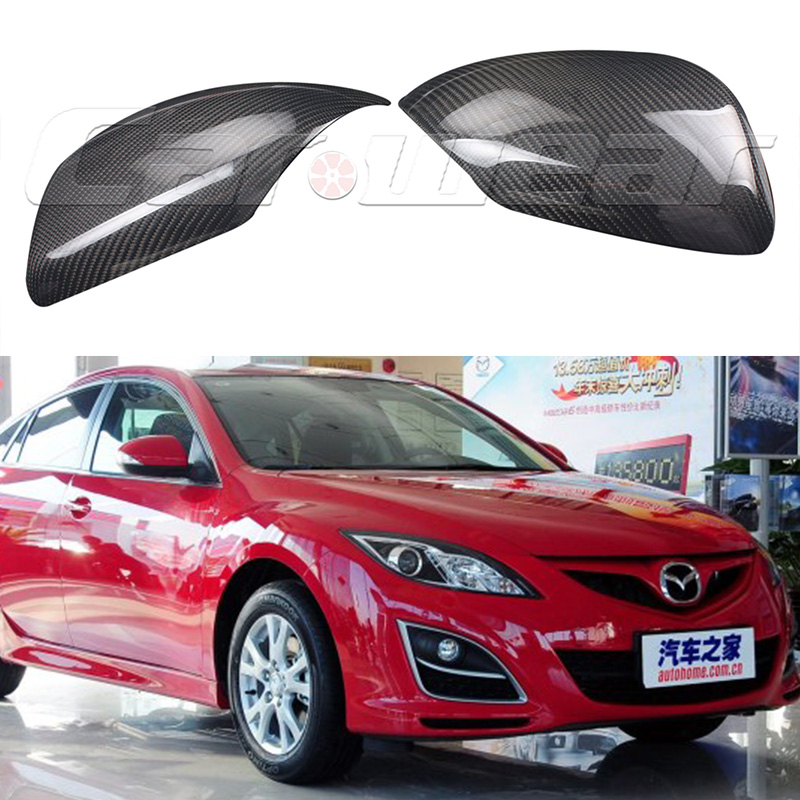ФОТО Carbon Fiber Car tuning side wing mirror cover trim for Mazda 6 2009-2013