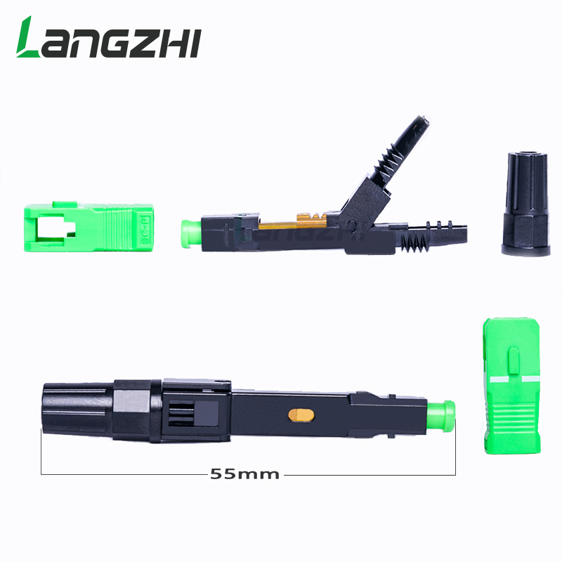 Image 3 - 100PCS/box FTTH SC APC single mode fiber optic SC APC quick 