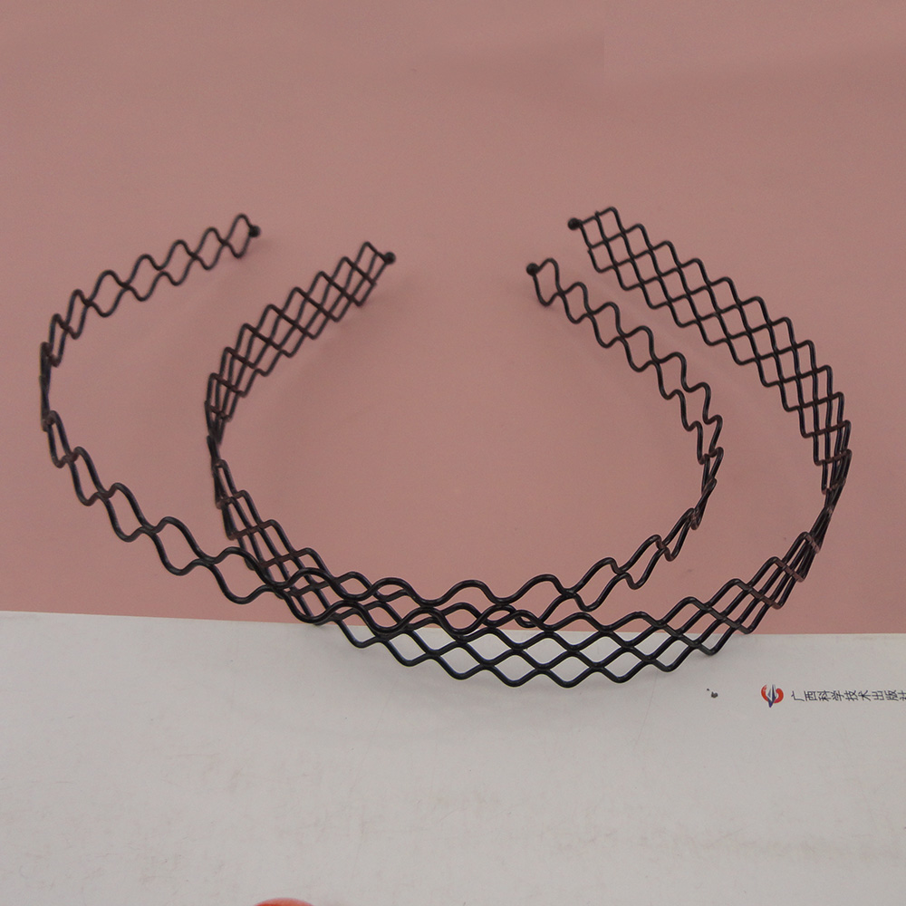 Apparel Accessories 10pcs Black Filigree Net Metal Wire Headbands Hairbands For Diy Women Hair Accessories Wholesales Girls Hair Hoops