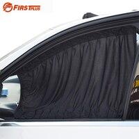 2 X Update 70L Aluminum Alloy Elastic Auto Car Side Window Sunshade Curtain Black Beige Gray