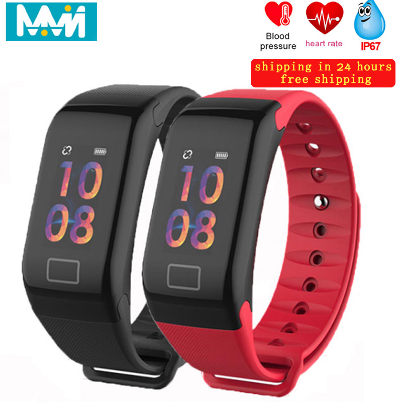 f1-plus-smart-bracelet-blood-pressure-waterproof-fitness-step-motion-meter-tracker-heart-rate-monitor-smart-band-for-android-ios