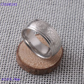 Fashion steel ring band for men tatoo design 8mm fashion ring silver color comfort fit