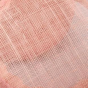 Элегантные шляпки из соломки синамей с вуалеткой хорошее Свадебные шляпы высокого качества черного цвета Клубная кепка очень хорошее 17 цветов MSF099 - Цвет: Розовый