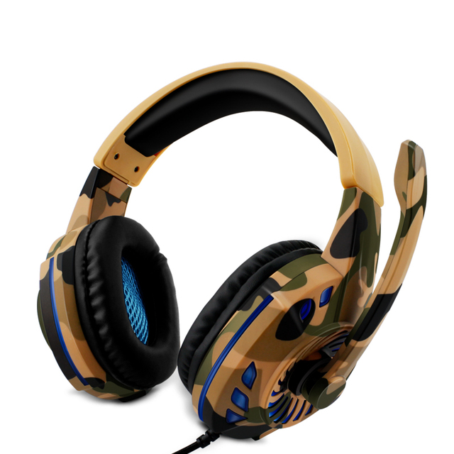 Camouflage Headset Bass Gaming Headphones 1