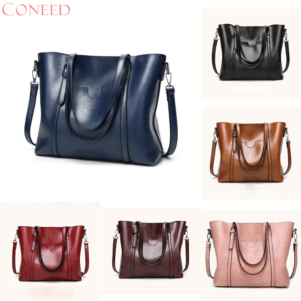 CONEED Women bag Womens Leather Handbags Luxury Lady Hand Bags With Purse Pocket messenger bag Big Tote drop ship ma19m30
