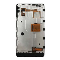 Black Full Touch Screen Digitizer Glass LCD Display Panel Monitor Screen Assembly With Frame For Nokia