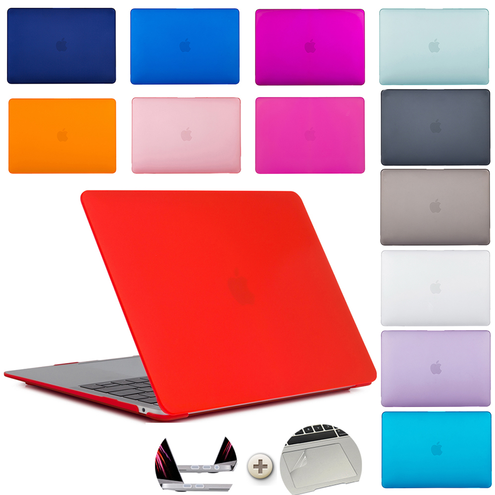 Laptop Cases For MacBook Retina Pro16 /13/ 15 Inch A2141 A1502 A1398 A1466 A1278 For Apple Notebook Case Hard Shell Matte Cases