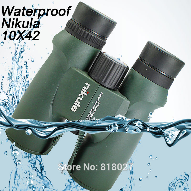 Binoculars Nikula 10X42 lll night vision binocular telescope Waterproof Nitrogen-Filled Central Zoom Portable Bak4 high quality nikula 8x30 binocular
