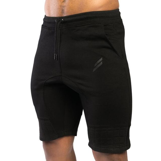 """Men's Gyms Shorts With Pockets Bodybuilding Clothing Men Golds Athlete Fitness Bermuda Weight Lifting Workout Cotton 4"""" Inseam"""