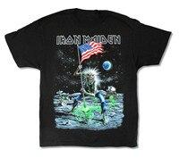 Iron Maiden Moonwalker Final Frontier 2010 US Tour Mens Black T Shirt New