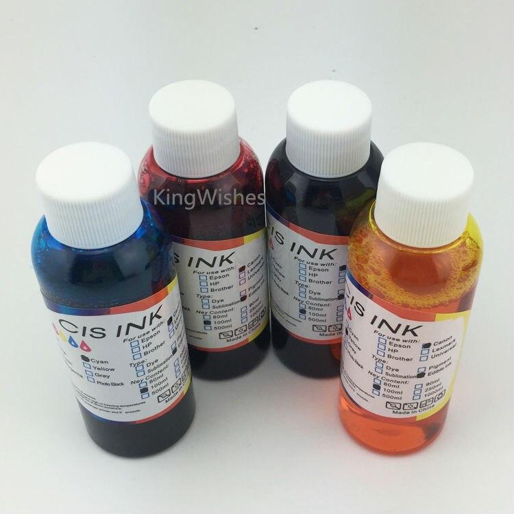 ФОТО Promotion Price 100ML T1271 T1272 T1273 T1274 Edible Ink For Epson WF-3520 WF-3540 WF-7010 WF-7510 WF-7520 Printer