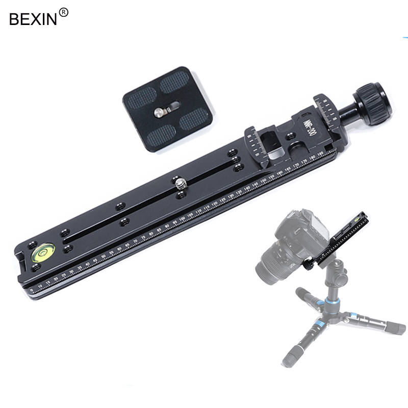 Arca-Swiss Aluminum Quick Release Adapter Long Tripod Clamp with Quick Release Plate& scrws For Camera Tripod