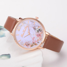 Relojes Para Mujer Hours Women Watches Leather Band Luxe Bra