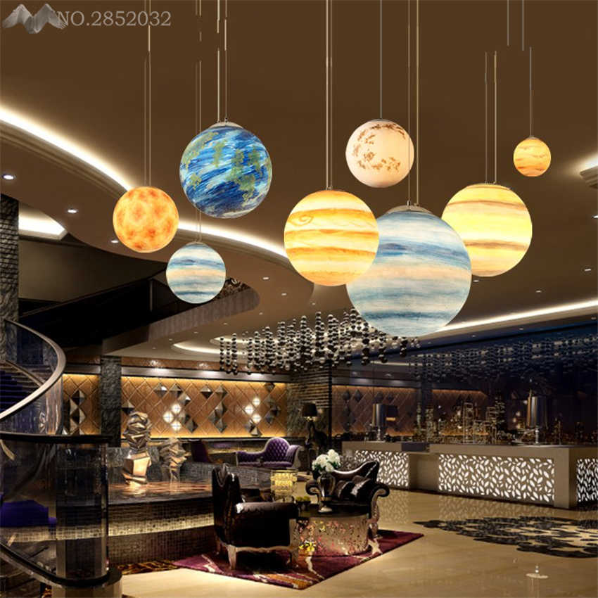 Creative Solar System Planet Hang lamps pendant lights led lights for home  nordic pendant light fixtures loft style hanging lamp