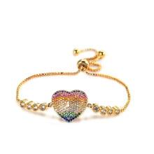 купить Fashion Heart Eye Charm Bracelet For Women Girls Gold/Silver Plated Link Chain Bangle & Bracelet Wedding Hand Jewelry дешево