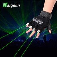 Novelty LED Laser Gloves Green Red LED Bulb With Battery Dance Show Finger Gloves Laser For