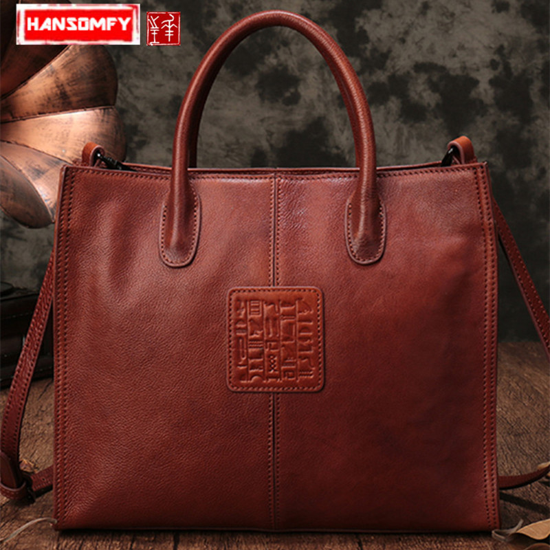Genuine Leather Women Handbag 2018 new simple ladies shoulder bag large capacity leather female tote messenger bags chance lovewomen s bag 2018 new genuine leather handbag simple shoulder diagonal cross ladies bag fashion messenger bags female