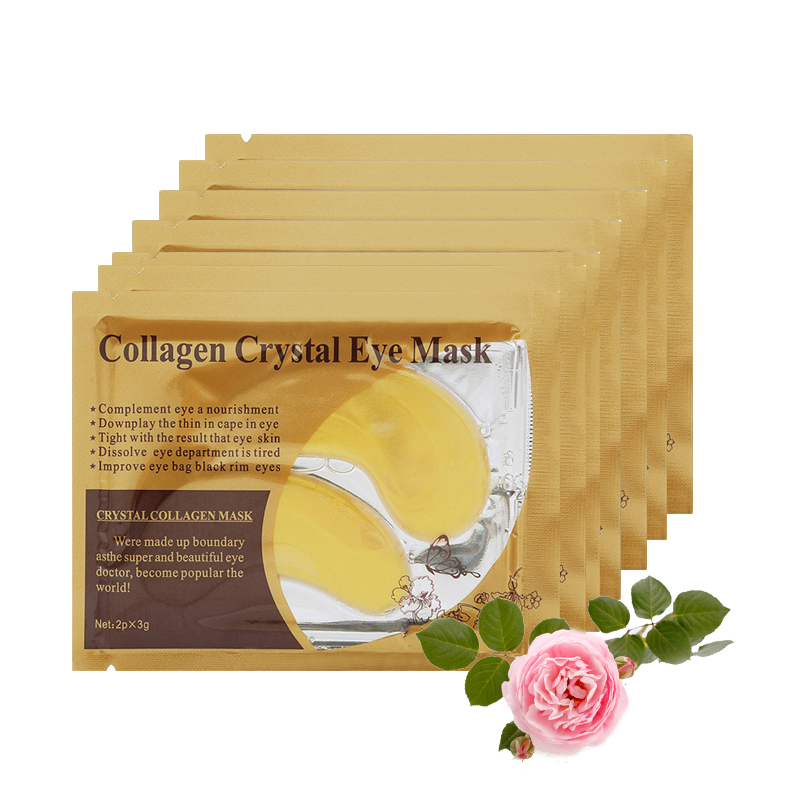 10pc=5pair Gold Mask Collagen Crystal Eye Dark Circle Moisturizer Whitening Anti-Aging Patches Under the Eyes Care