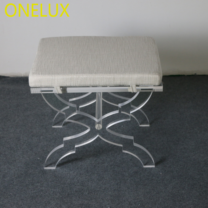 Astounding Us 672 0 Acrylic X Base Stool Linen Seat Lucite X Leg Vanity Stool Ottomans Bench With Cushion In Stools Ottomans From Furniture On Aliexpress Dailytribune Chair Design For Home Dailytribuneorg
