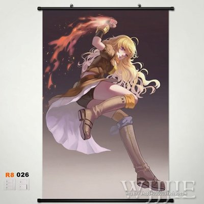 rwby yang xiao long Anime Wall Art Home Decoration Scroll Poster