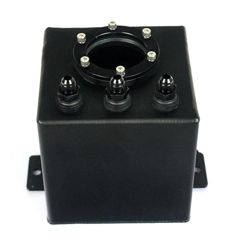 Réservoir de montée subite de carburant en aluminium de billette d'an6 2L/réservoir de montée subite d'an6 avec le noir de garnitures - 2