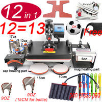 12 In 1 Heat pen Press Machine,Sublimation Printer/shoe Transfer Machine Heat Press For Mug/Cap/T shirt/shoe/bottle/pen
