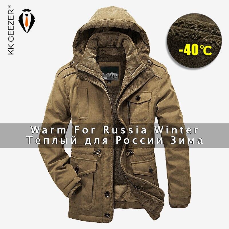 ฤดูหนาวชายเสื้อ Parkas Top Warm กันน้ำขนาดใหญ่ 2019 Thicken ชายขนสัตว์ 2 in 1 เสื้อคุณภาพสูงขนแกะผ้าฝ้าย เบาะ-ใน เสื้อกันลม จาก เสื้อผ้าผู้ชาย บน   1
