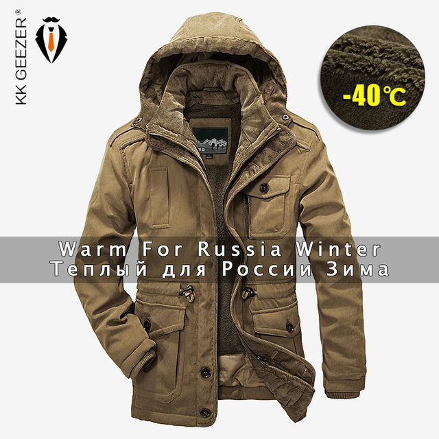 ec7c4e825c327 Winter Jacket Men Parkas Top Warm Waterproof Big Size 2018 Thicken Male  Heavy Wool 2 in