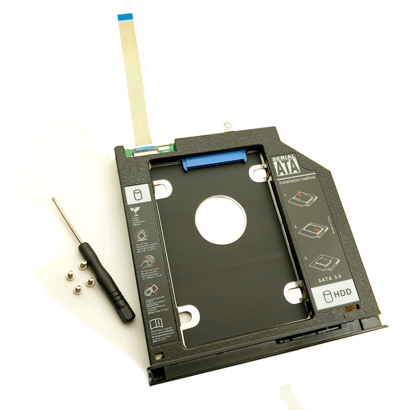 NEW 2nd SSD HDD Caddy For Dell 3467 3468 3478 3562 3567 3568 3576 3578 Hard Disk Drive Caddy 9.5mm