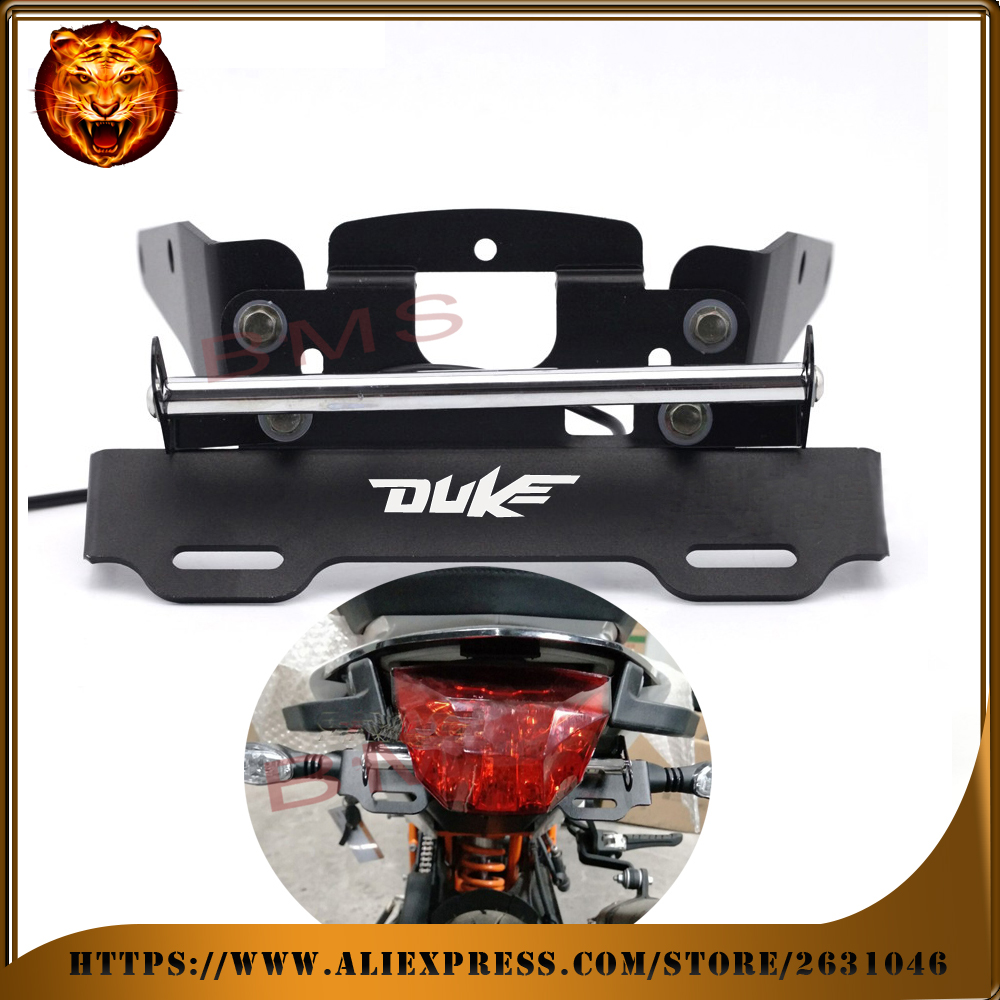 Motorcycle Tail Tidy Fender Eliminator Registration License Plate Holder bracket LED Light For KTM 690 DUKE R 2012-2016 690DUKE for kawasaki z1000 z750r z750 2007 2012 motorcycle tail tidy fender eliminator registration license plate holder led light