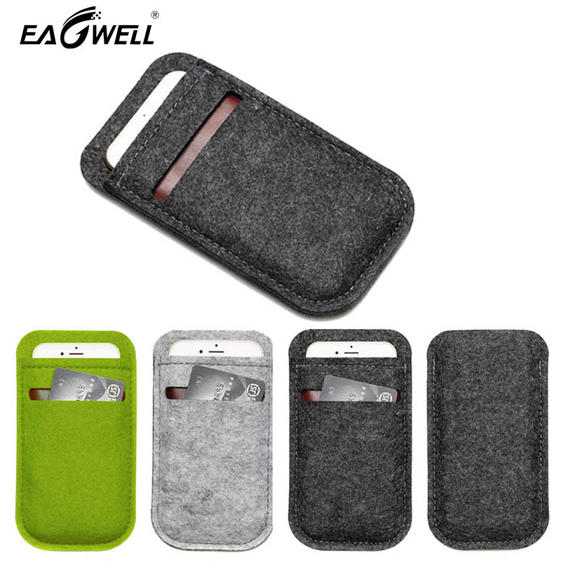 de6508bcfe5b53 Universal Wool Felt Phone Case Wallet Bag 4.7'' 5.5'' For iPhone 6 7 8 Plus  Cellphone Pouch Sleeve Bag Cover For Samsung Xiaomi