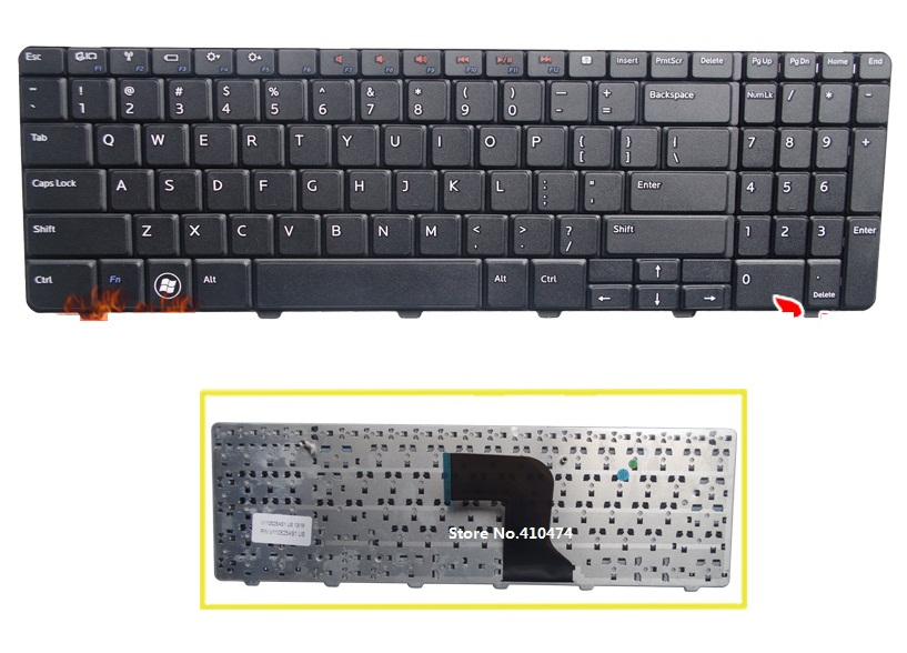 SSEA New US Keyboard for <font><b>DELL</b></font> <font><b>Inspiron</b></font> 15 15R N5010 M5010 N M <font><b>5010</b></font> Laptop English Keyboard image