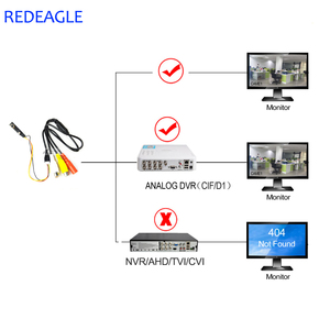 Image 5 - REDEAGLE 700TVL CMOS אנלוגי מצלמה מיני אבטחת בית מעקב וידאו מצלמה 6pcs 940nm IR נוריות AV הקטן מצלמות