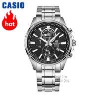 Часы Casio Edifice Мужские кварцевые спортивные часы бизнес светящиеся стальные ремешок кожаные ремешок водонепроницаемые часы EFR 304