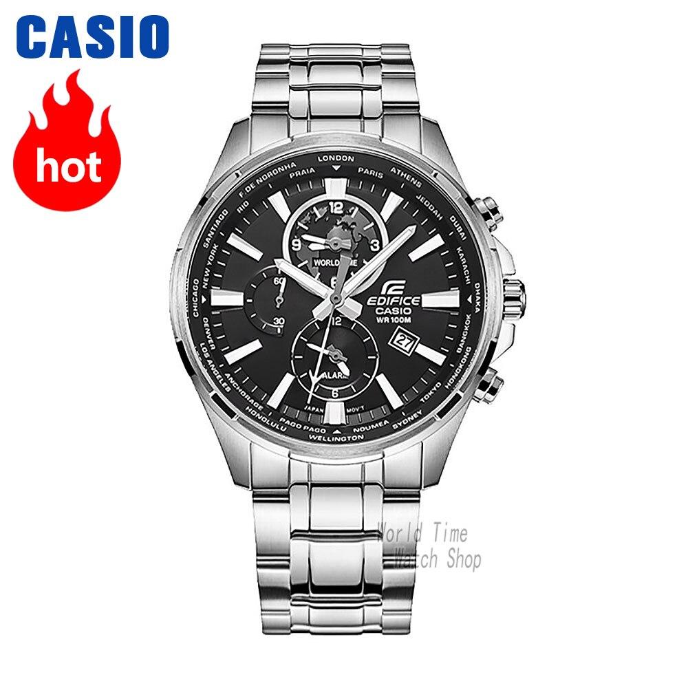 Montre Casio Edifice de Quartz Montre de Sport D'affaires Lumineux Bracelet En Acier Bracelet En Cuir Montre Étanche EFR-304
