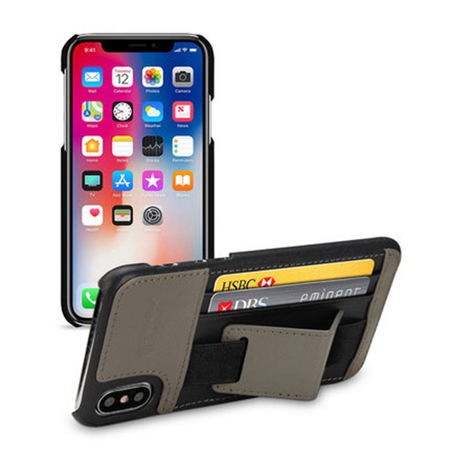 official photos 15b17 a52a0 US $57.84 11% OFF|2017 New Multi function Handle Case for iPhone X Genuine  Leather Phone Cover with Holder Back Case Bag for iPhoneX 5.8inch-in ...