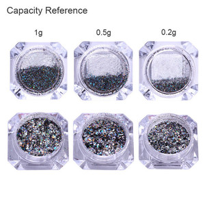 Image 5 - Doğan PRETTY Galaxy tırnak Glitter lazer Holo tırnak pul Paillettes Pigment tozu tırnak sanat toz 0.2g 0.5g isteğe bağlı