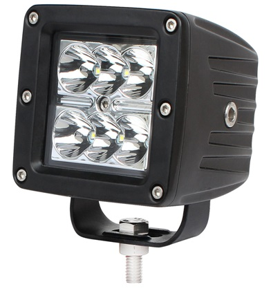 2 шт. 3 дюймов 18 Вт светодиодный свет работы 12 В Spot off road светодиодный свет для ATV Лодка 4X4 двойственно с 2 шт. Бесплатная Amber Защитная крышка