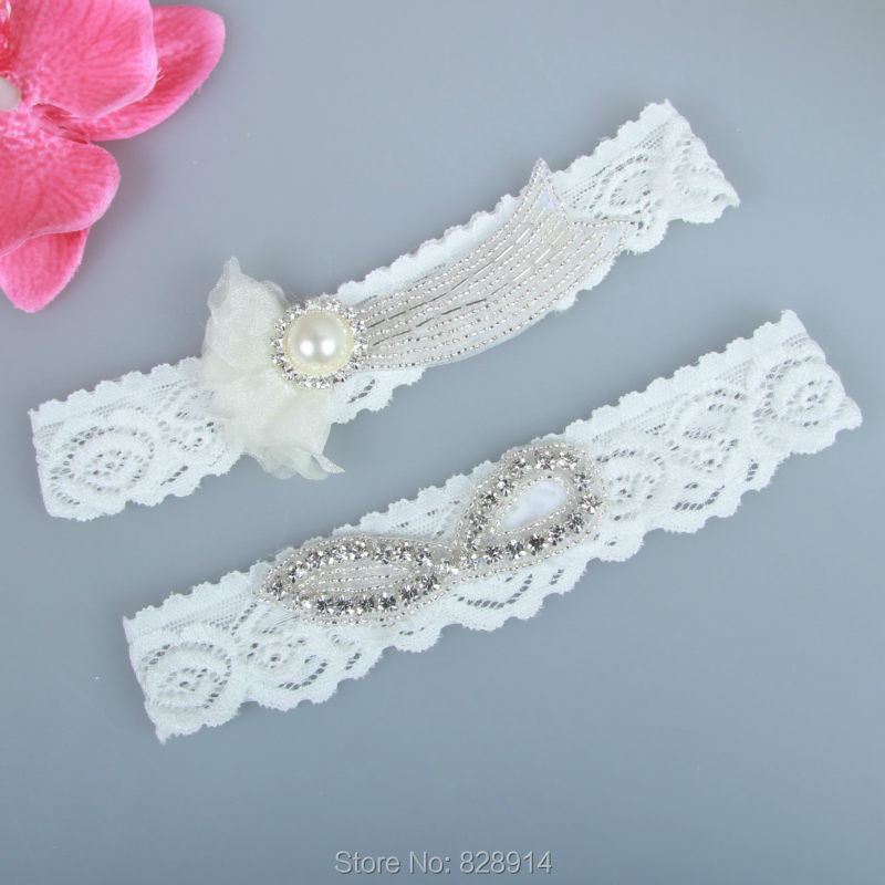 Vintage Lace Wedding Garter Set: Fashion Vintage Floral Sexy Lace Wedding Garter Set Leg
