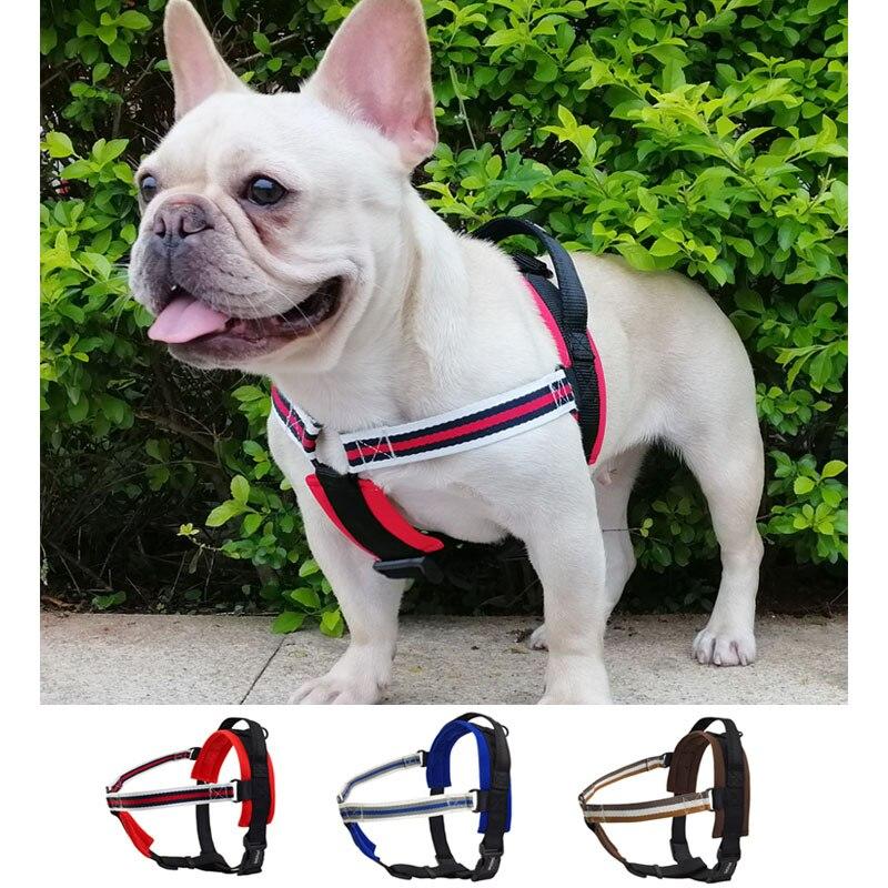 DogFad No-pull Pet Dog Harness Vest Soft lining Walking Training Medium Large harness Adjustable Safety with Handle