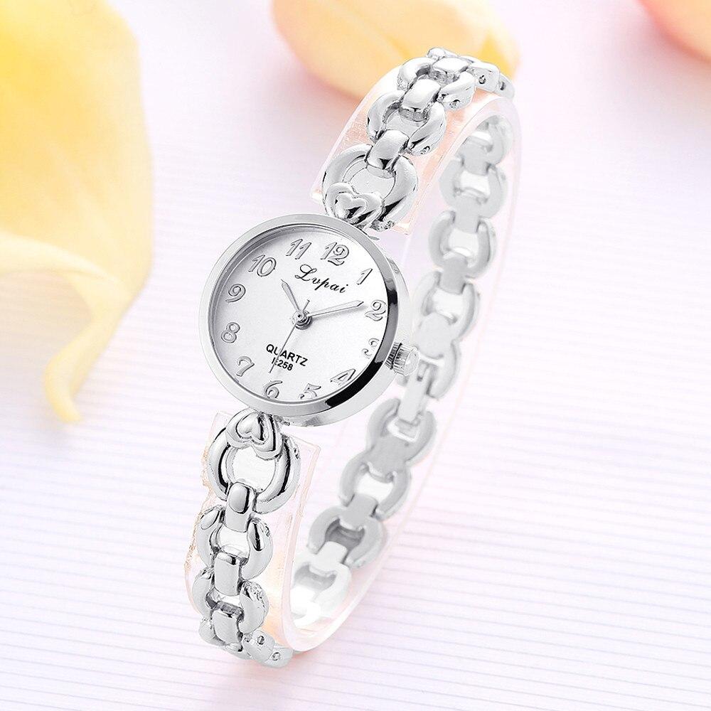 Fashion Casual Dress Wristwatch Luxury Brand Women Watch Stainless Steel Rhinestone Strap Quartz Watch Female Clocks Reloj Mujer