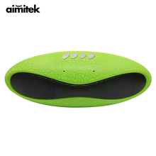 Aimitek Mult function Mini Football Portable Speaker Wireless Bluetooth Speakers Waterproof Bass with Mic FM USB