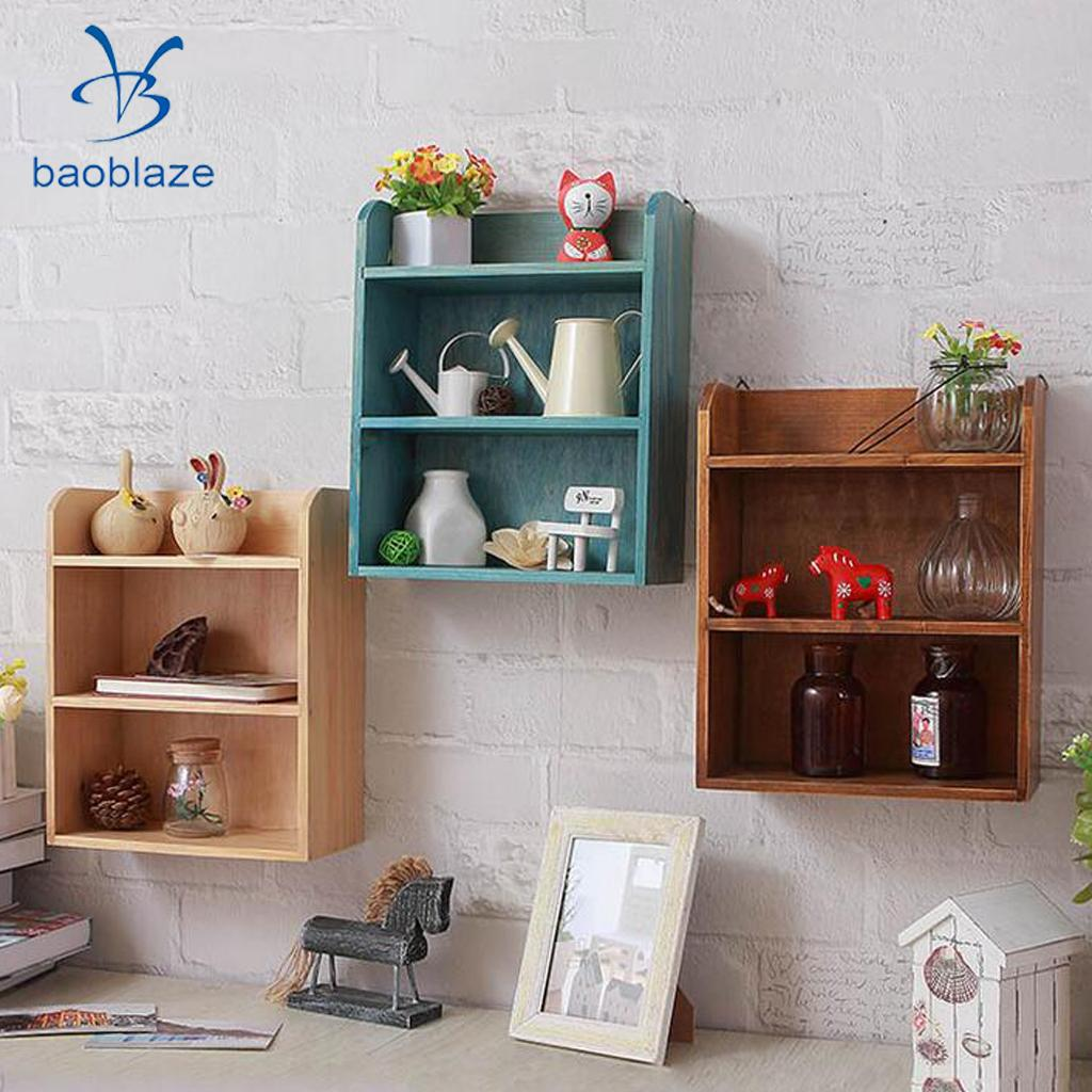 Retro Multi Layer Wooden Furniture Storage Box Cabinet Wall Storage Cabinet Display Box For Living Room Bedroom giantex countertop display humidor 150 cigars storage cabinet humidifier hygrometer new living room cabinet hw56599